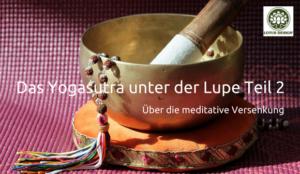 Das Yogasutra unter der Lupe - über die meditative Versenkung
