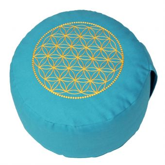 BASIC -  flower of life - turqoise/yellow